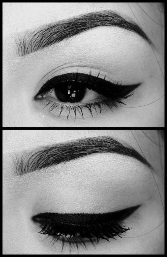 Como delinear los ojos para lograr el efecto retro en maquillaje