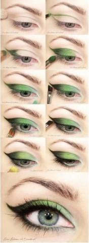 Maquillaje de Novias Paso a Paso Retro en Verde