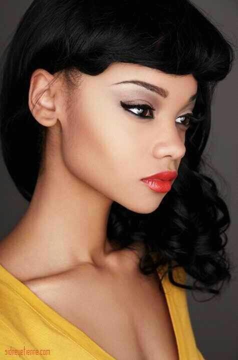 Maquillaje para Novias con piel morena estilo Retro