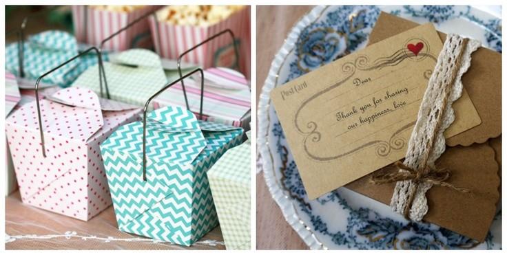 Cajas chinas con dulces para recuerdos de boda
