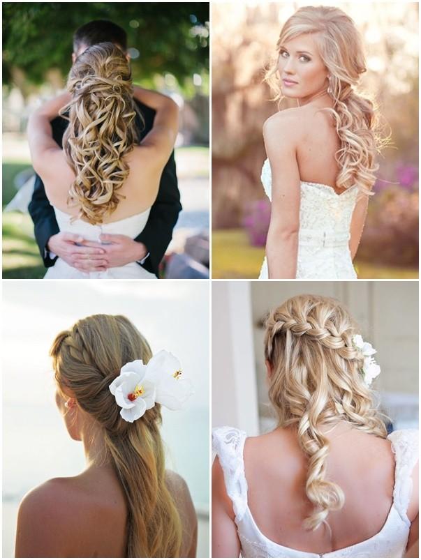 Peinados para novias con cabello largo mas ideas ac for Imagenes semirecogidos