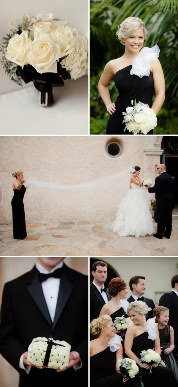 Decoraciones para bodas blanco y negro