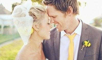 ideas originales para bodas modernas en amarillo y gris