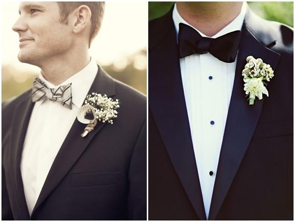 Trajes de novio en blanco y negro