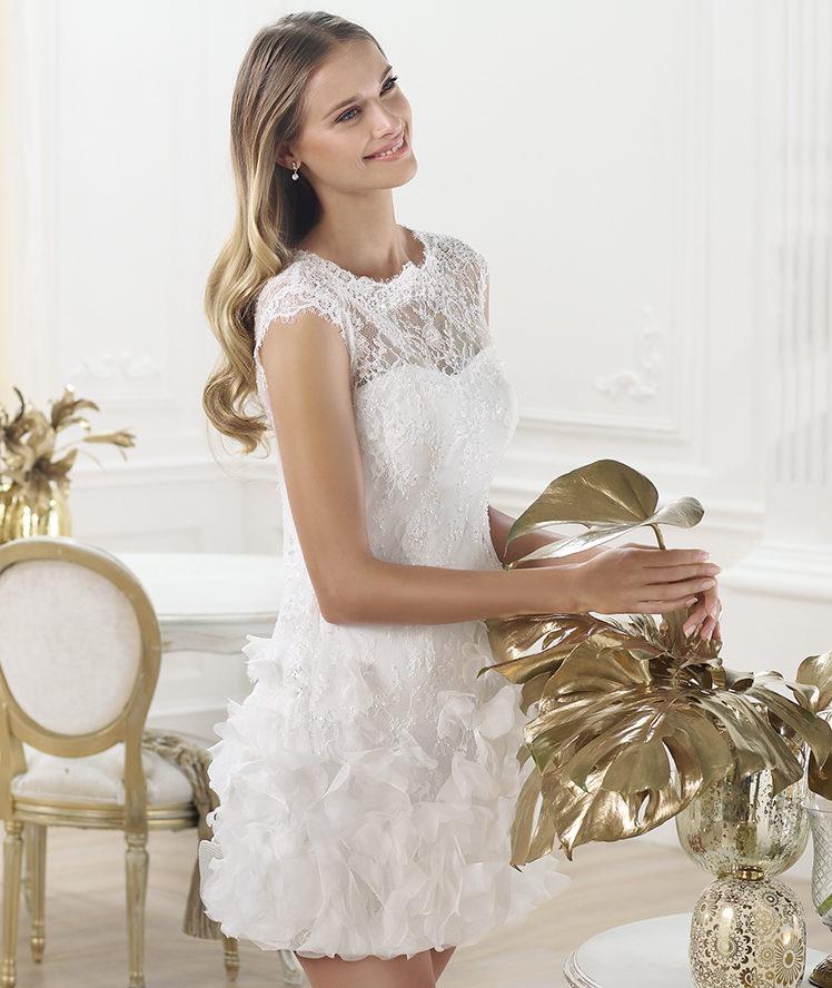 Vestidos de novia 2014 de Pronovias cortos - Modelo LAGATTE