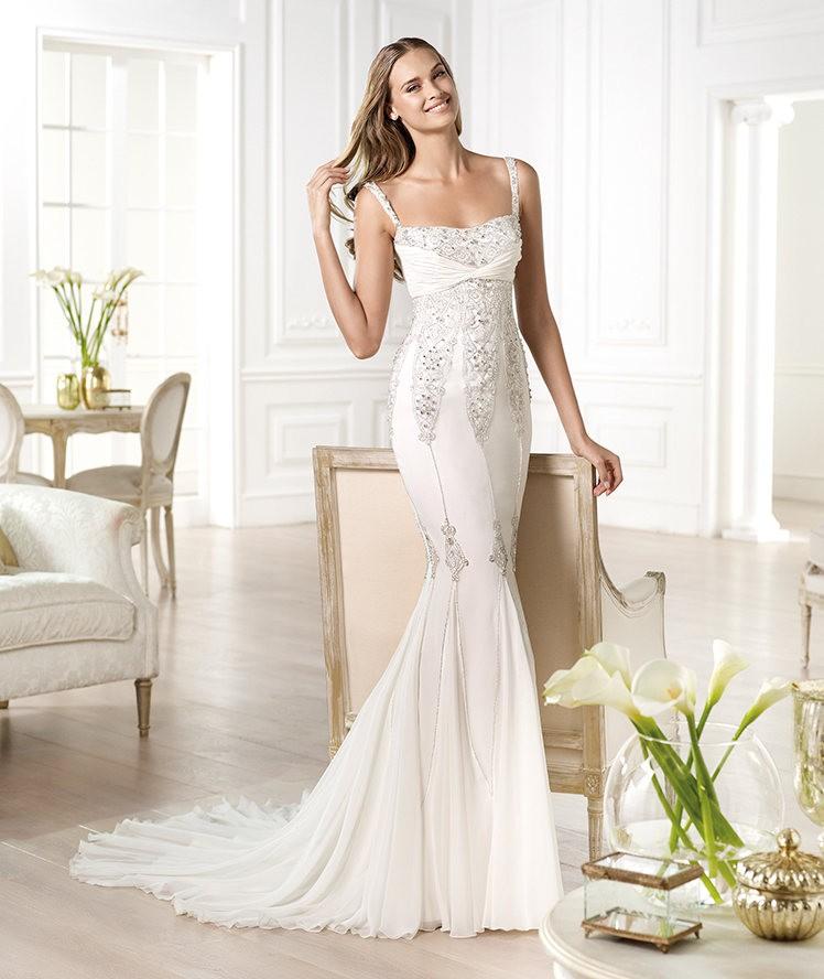 Vestidos de novia 2014 de Pronovias vintage - Modelo YALINA