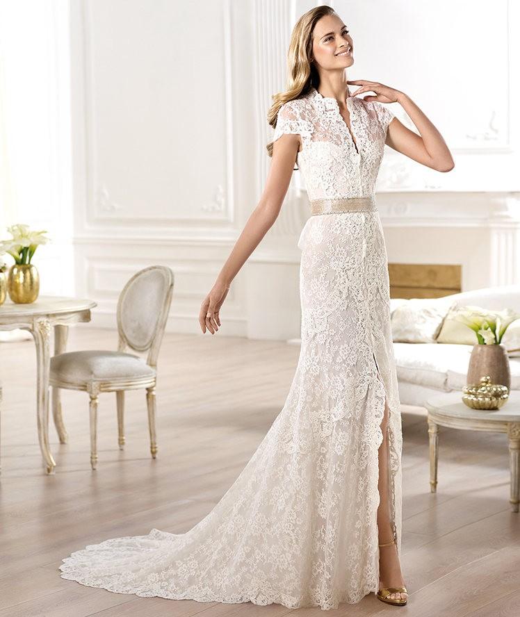 Vestidos de novia 2014 de Pronovias modelo camisero - Modelo YANGUAS