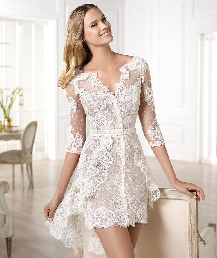Vestidos de novia 2014 de Pronovias cortos - Modelo YECELIS