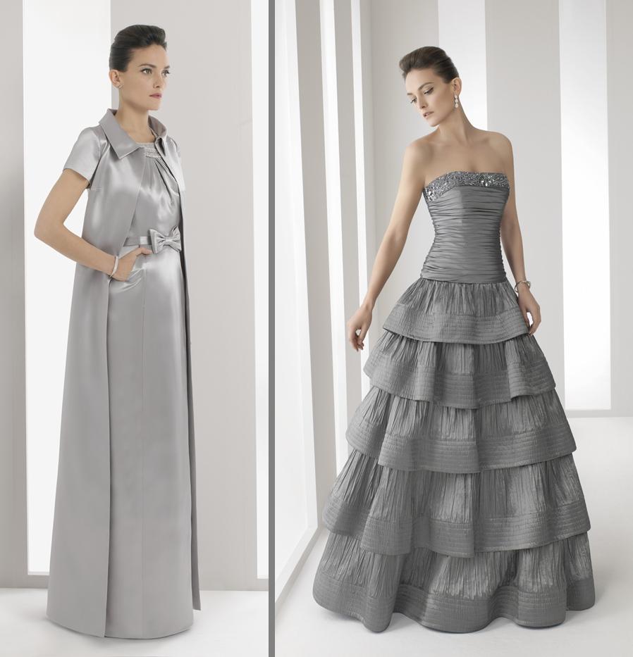 Vestidos de madrinas de boda en gris plata