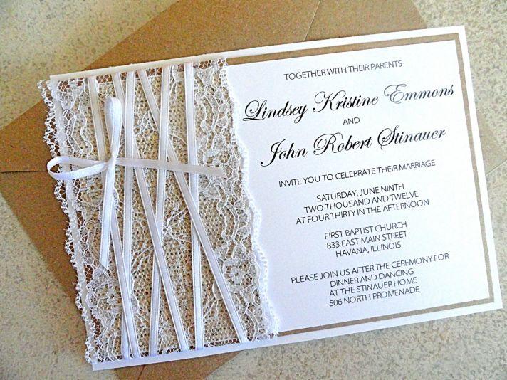 Tarjetas para bodas rústicas y elegantes