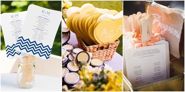 Bodas en verano - Diferentes presentaciones para ofrecer abanicos - abanicos para bodas en canasta