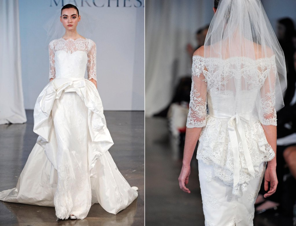 Velos de novia de la colección de Marchesa 2014