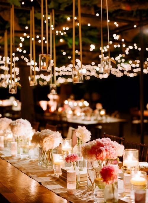 Imágenes de bodas al aire libre con diferente iluminación