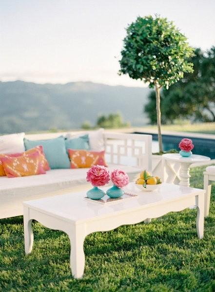 Jardines para bodas: Imágenes de bodas con livings al aire libre