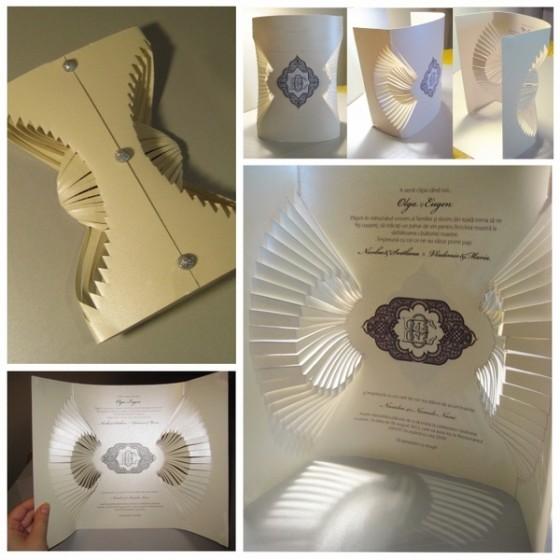 Increíblemente originales estas invitaciones en papel moldeado de Olga Cuzuioc