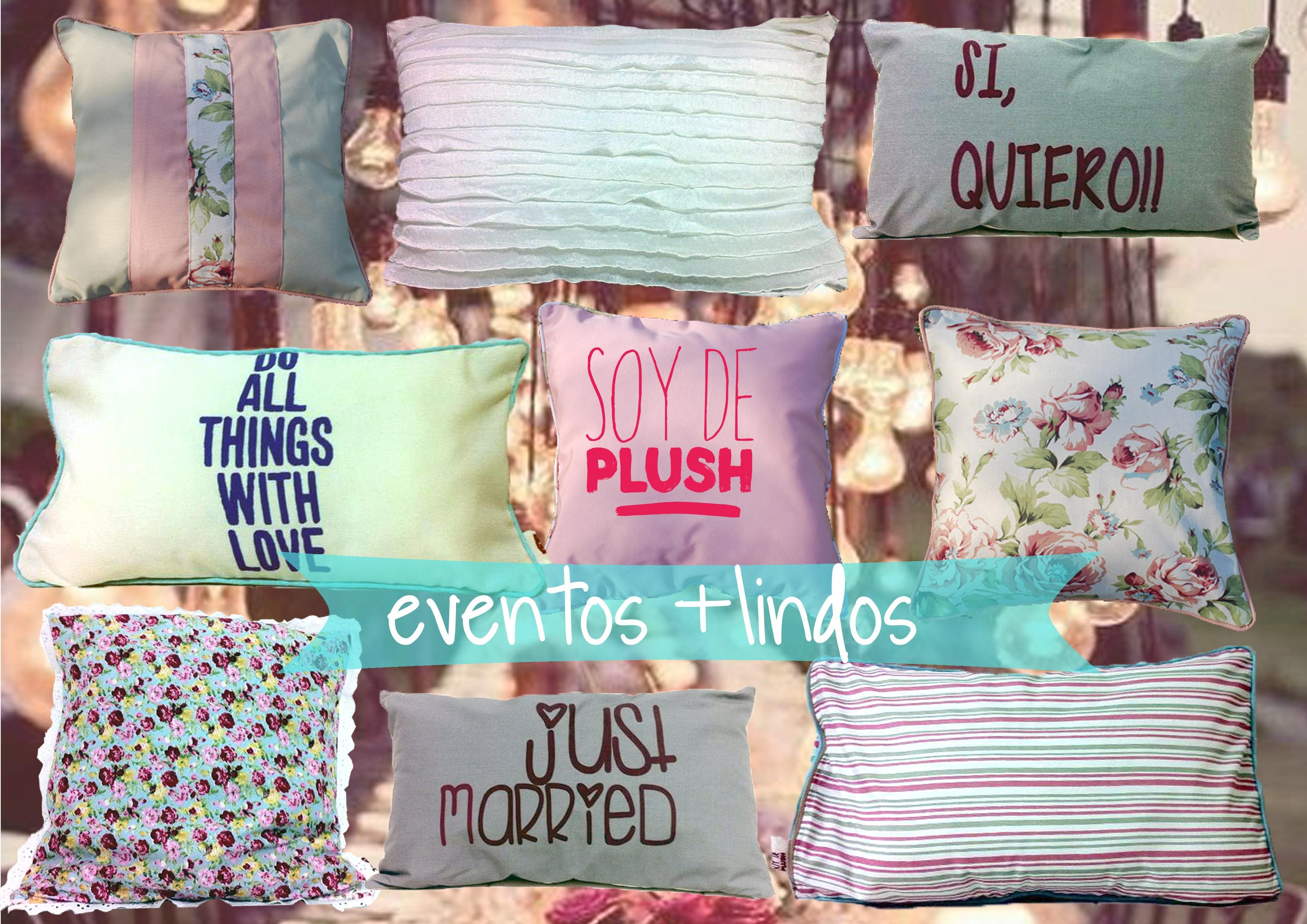 almohadones para eventos