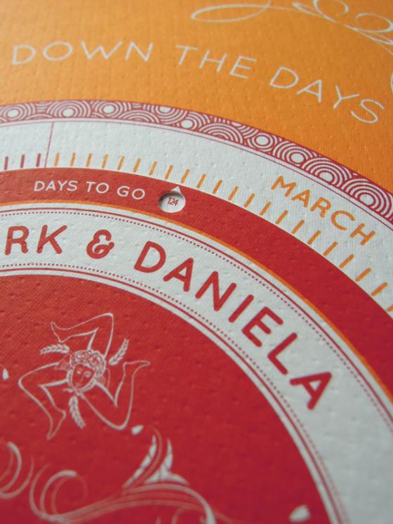 Invitaciones de boda originales para contar los días!!
