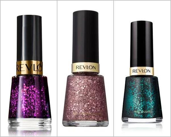 Esmaltes para uñas en colores brillantes y tono glitter