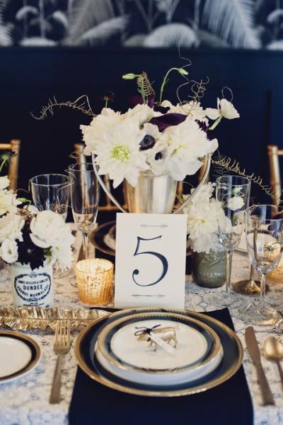 decoracion de mesas para bodas al tono