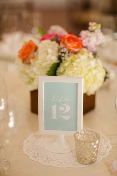 decoracion de mesas para bodas en verde menta y rosa