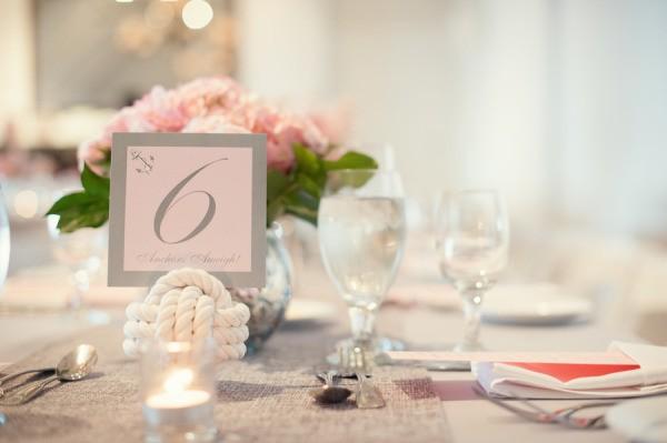 decoracion para mesas de bodas marineras