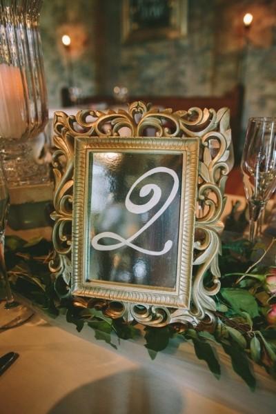 Numeros de mesa vintage con marco: Números tan originales como los marcos que uses para hacerlos tu misma!