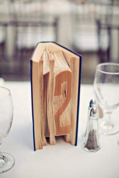 Numeros para mesas de bodas estilo libro: Para las parejas amantes de la literatura