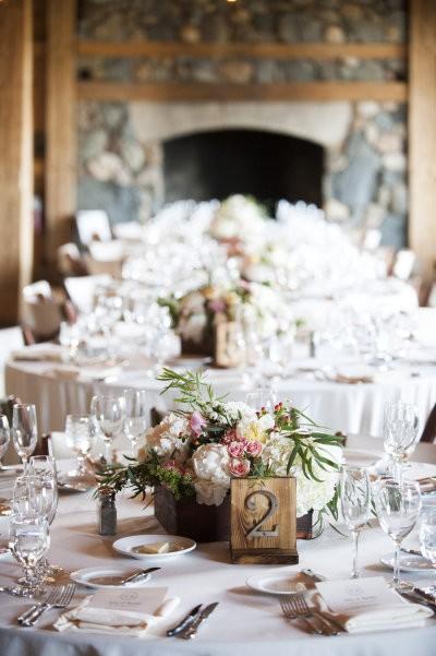numeros para mesa de bodas rusticas