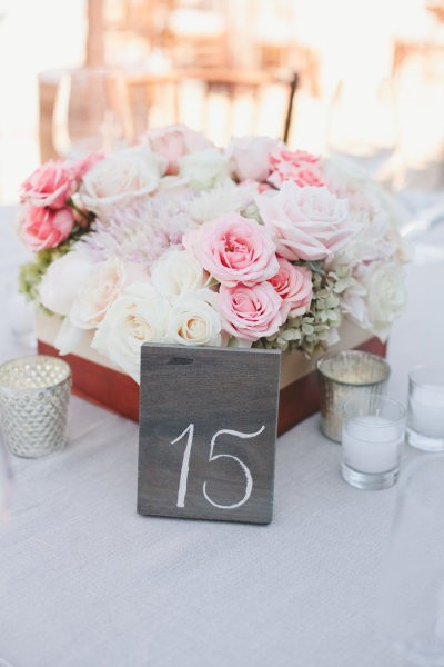 numeros para mesas en tejas con tiza