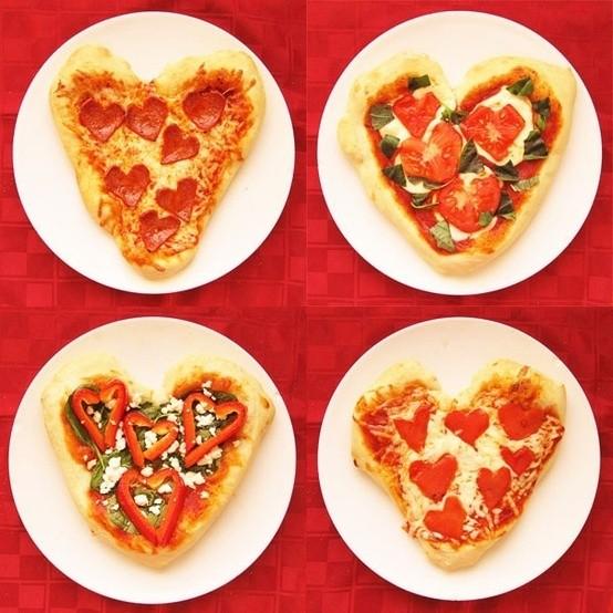 Regalos originales para mi novio: pizza en corazón, una excelente idea para San Valentín!!
