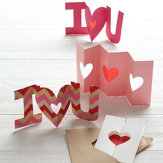 Tarjetas y frases para el dia de san valentin: Más modelos de tarjetas que puedes hacer tú misma