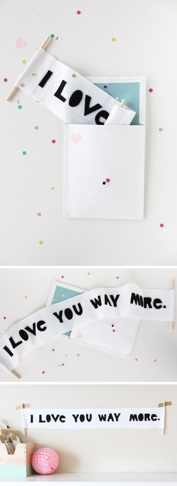 Regalo original para mi novio: un cartel lleno de amor! Sigue nuestro paso a paso para armarlo!