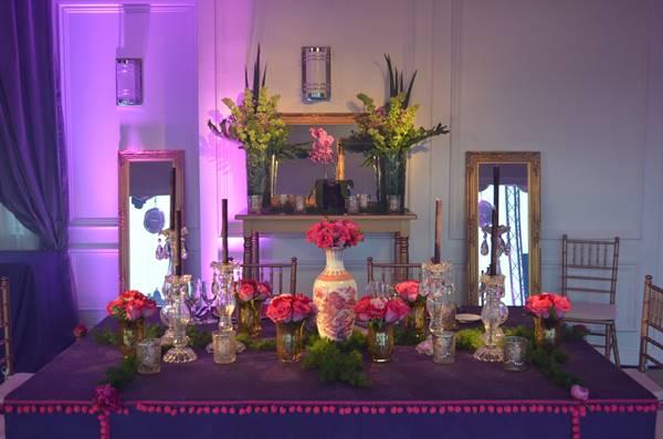 Decoracion de mesas: Una decoración romántica y llena de glamour! - Ramiro Arzuaga