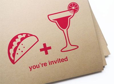 Una invitación muy original y descontracturada