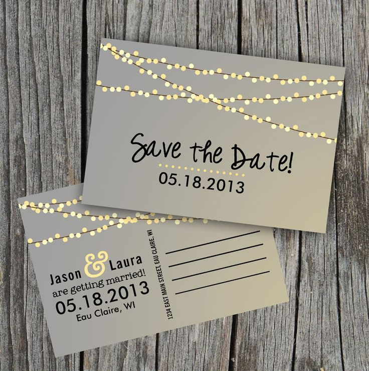 Invitaciones de boda civil: Invitación en forma de postal