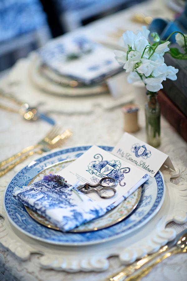 Colores de bodas del 2014: el azul - Una decoración vintage en azul