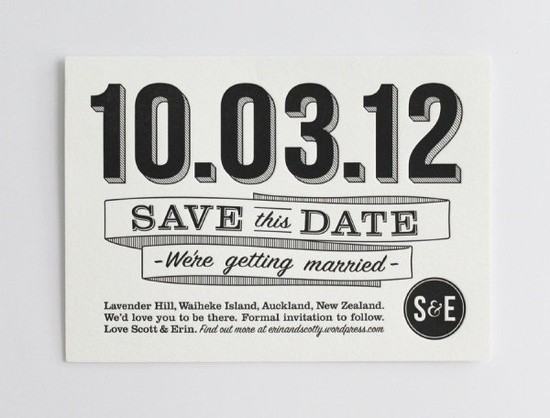 Save the Date en blanco y negro
