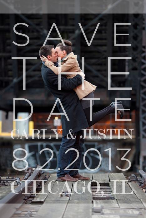 Save the Date con una fotografía de los novios