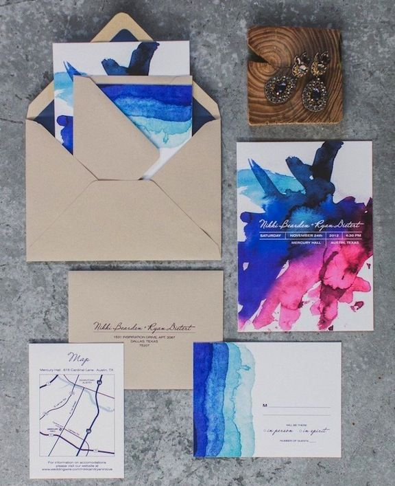 Invitación con diferentes colores en degradé