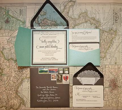 Una invitación inspirada en viajes alrededor del mundo