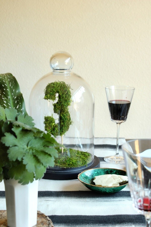 Decoración de mesas en verde ideal para una eco-wedding