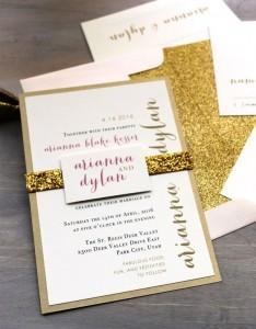 Invitaciones boda originales que causarán furor en este 2014! Invitaciones glitter