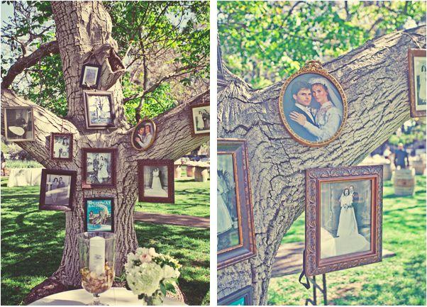 Manualidades para bodas originales: árbol genealógico, un árbol lleno de lindos recuerdos