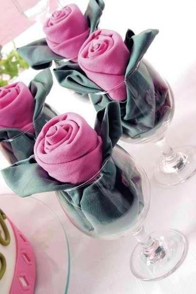 Paso a paso para bodas: servilletas con divertidas formas (en forma de rosas)