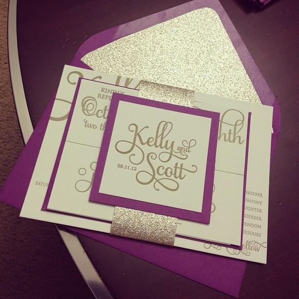 Purpura y dorado la combinación perfecta!