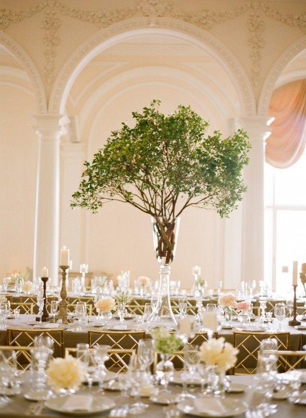 Centros de mesa modernos para bodas que nunca viste - Centros de mesa con pinas secas ...