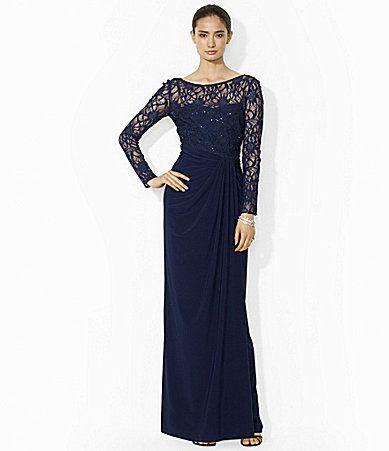 Vestidos para madrinas de boda en color azul marino de Ralph Lauren Esta colección ha sido confeccionada especialmente para damas de honor y madrinas