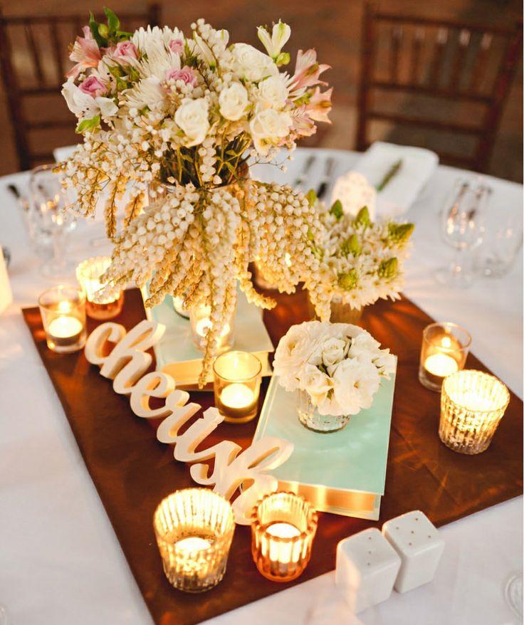 Centros de mesa modernos para bodas que nunca viste for Arreglos para mesa para boda