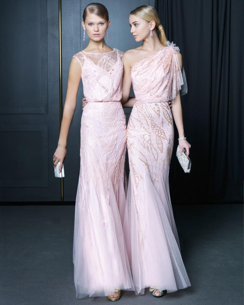 Trajes de madrina de boda de Rosa Clará y reglas de etiqueta: Colores claros de trajes de madrina para bodas de día