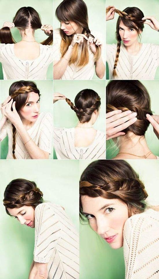 Peinados de novia modernos para hacer t misma ideas - Como hacer peinado para boda ...